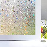 Zindoo Vinilos para Cristales Vinilos Decorativos Cristales Laminas para Ventanas 44.5x200cm