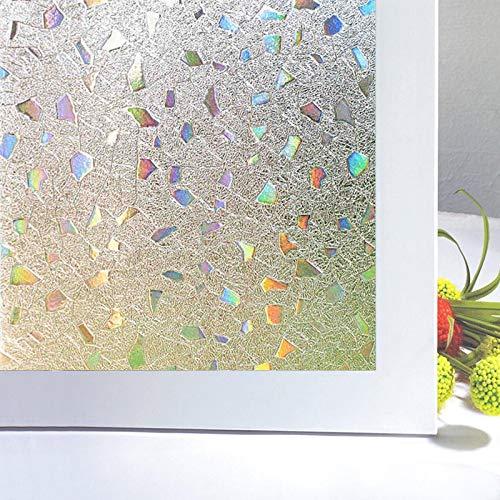 Zindoo Vinilos para Ventanas Ventana Cristales de Vinilo de Vidrio Decorativo Adecuado para Ventanas Bajo la luz del Sol, Anti UV (90 * 200 cm)