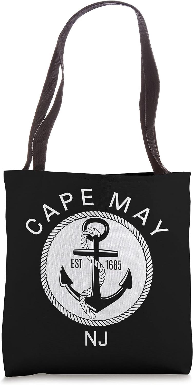Cape May NJ Nautical Tote Bag
