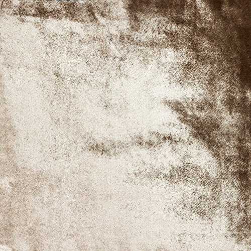 McAlister Textiles Couverture en Velours Brillant Chemin de Lit, Canapé et Fauteuil Moelleux Doux Effet - Accessoire - 265x380cm | Couleur Beige Crème