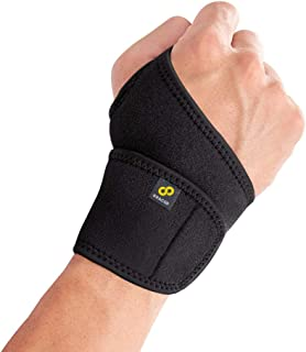 Bracoo Wrist Wrap, Reversible Compression Support – for Sprains, Carpal Tunnel Syndrome, Wrist Tendonitis Pain Relief & In...