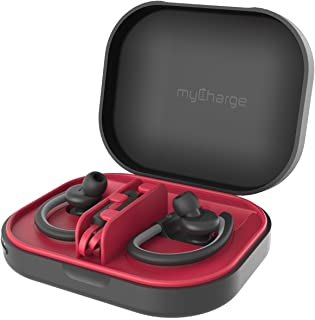 myCharge PowerGear Sound Protective Portable Charging Case for Wireless Earbuds Headphones | Custom Tray Compatible with Powerbeats & Removable for Other Brands | 1400 mAh / 1A Output