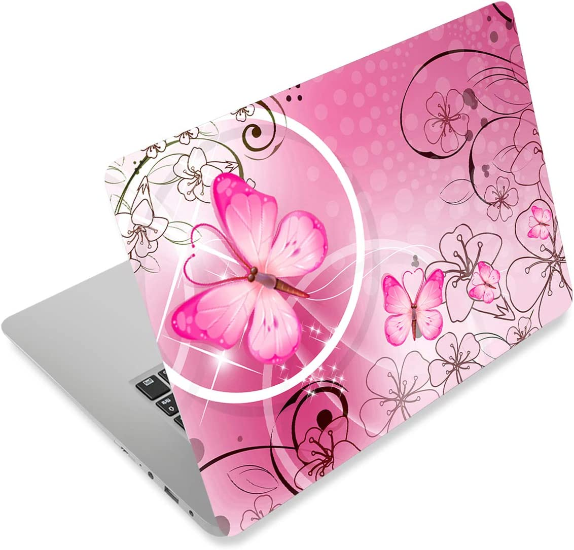 Pink Butterfly11.6 Now on sale 13 13.3 14 15 Portland Mall Skin Laptop Netbook 15.6 inches