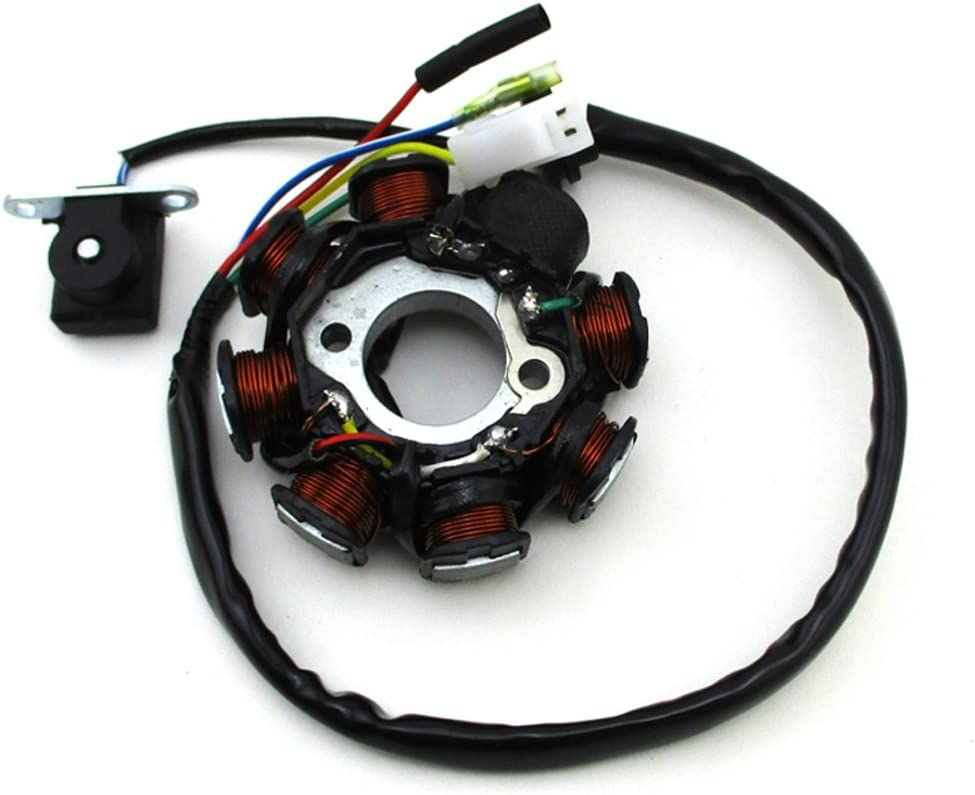TC-Motor 8 Coil Pole AC Ignition 50cc Stator Financial sales sale Fort Worth Mall Sco GY6 Magneto For