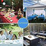 Chengtao Tischdecke Einweg, Tischdecke Plastik - 6er Pack, Garten Tischdecke Rechteckig Tischtuch Tischtuchtischdecke für draussen - 6