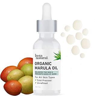 Organic Marula Facial Oil - 100% Pure, Non GMO, Cold Pressed, Unrefined, Moisturizing and Balancing for Hair, Body, Hands ...