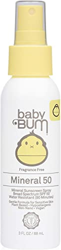 Sun Bum Baby Bum SPF 50 Sunscreen Spray | Mineral UVA/UVB Face and Body Protection for Sensitive Skin | Fragrance Fre...