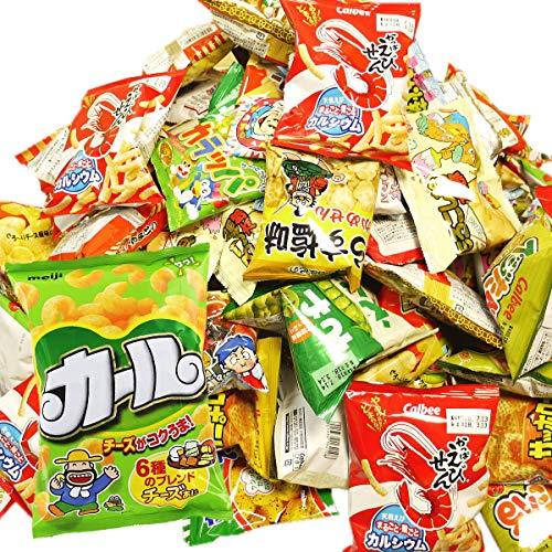 送料無料 西日本限定「カール」が必ず入った! カルビー・明治・菓道など人気駄菓子のスナック袋を集めました!いいものちょっとずつ お菓子・駄菓子 スナック系詰め合わせ (★増量バージョン★詰め合わせ84袋セット)