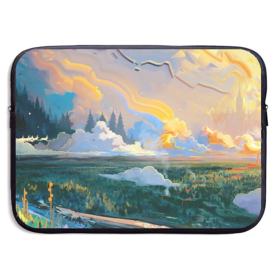 Computer Bag Laptop Case Slim Sleeve Modern Landscape Waterproof 13-15In IPad Macbook Surface Book Notebook Ultrabook