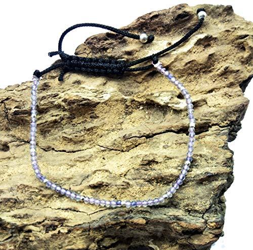 LOVEKUSH Pulsera Gems Jewelry 75% de descuento Mejor Oferta Piedra Suelta Rosa Amatista Cuarzo Pulsera Ajustable 2 mm, Rondelle & Facetado 7 pulgadas de Largo. BB10