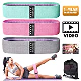 Resistance Bands for Legs and Butt, Exercise Bands Booty Bands Hip Bands Wide Workout Bands Sports-Fitness Bands Stretch Resistance Loops Band Anti Slip Elastic (Set of 3)