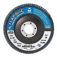 "Mercer Industries 342120 Zirconia Flap Disc, Type 29 4-1/2""x 7/8"" Grit 120, 10 Pack"