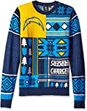 NFL SAN DIEGO CHARGERS PATCHES Ugly Sweater, Medium