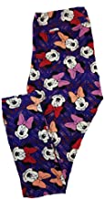 Lularoe Tall Curvy TC Disney Smiling Minnie Mouse Geometric Adult Leggings fits 12-18