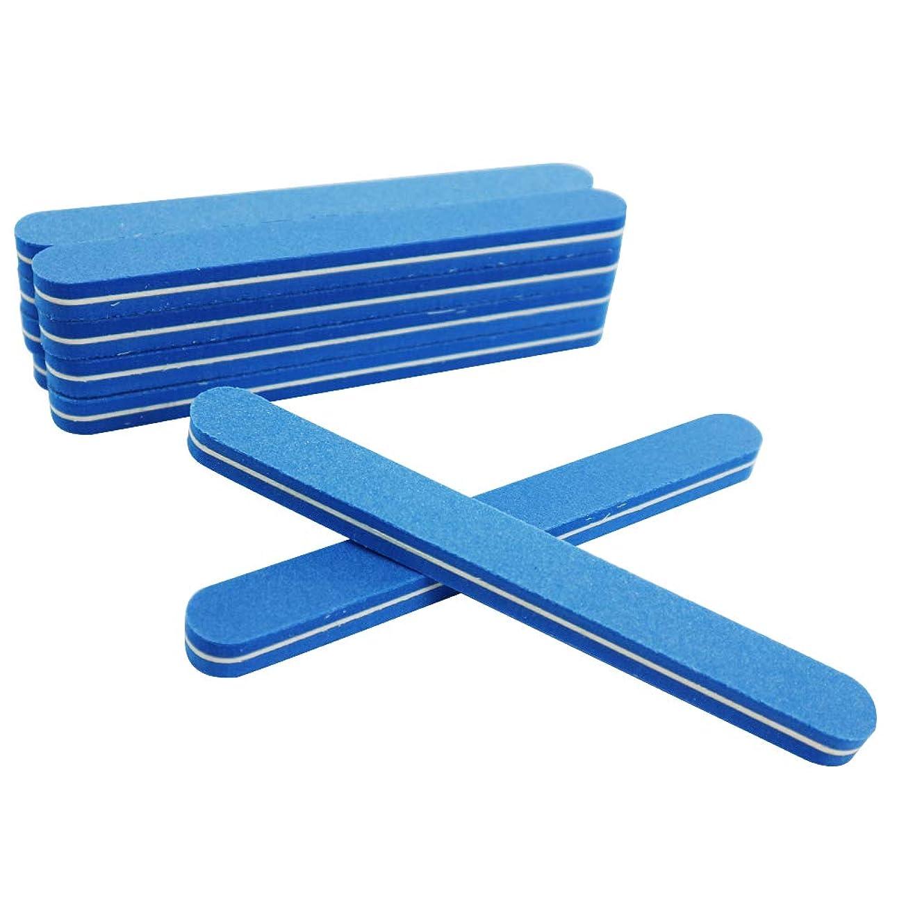 配当慣れる配当爪やすり 爪磨き ネイルケア 10本セット 両面 爪磨き (直線型)