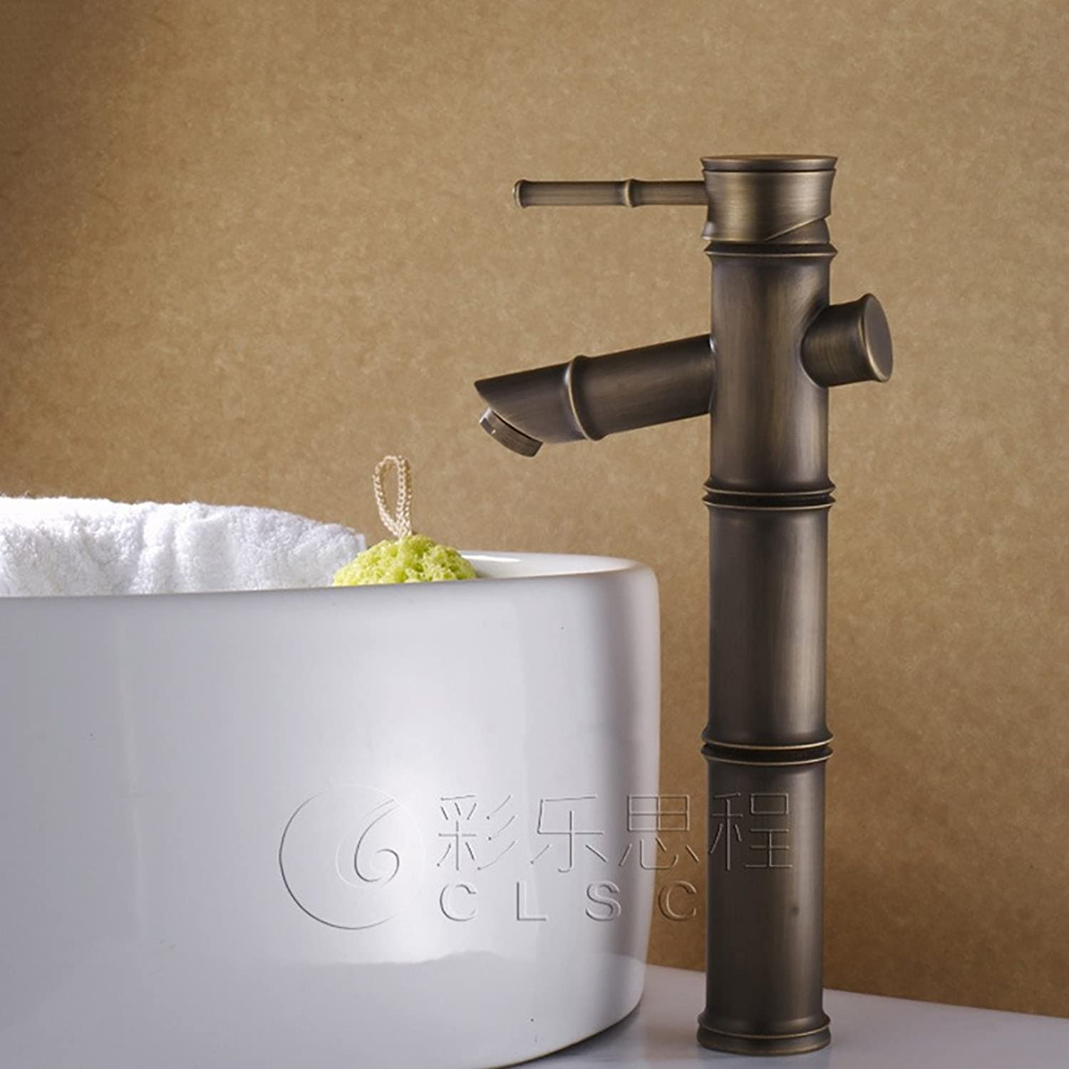 Hlluya Professional Sink Mixer Tap Kitchen Faucet The Antique copper single hole hot and cold basin mixer