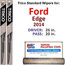 Best 2014 ford edge wiper blade size Reviews