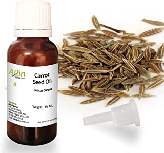 Allin Exporters Carrot Seed Oil 15ml Natural, Undiluted and Moisturiser Ultimate Choice for Aromatherapy, Massage and Aroma Diffuser