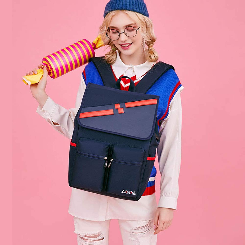 QWKZH Korean version of the middle school student bag travel bag computer bag