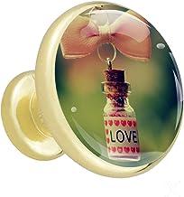 4 Stuks Lade Handvatten en trekt Goud Moderne Kast Knop Metalen Bling Liefde Verhaal Knoppen Mooi Gift voor Jongen 32mm