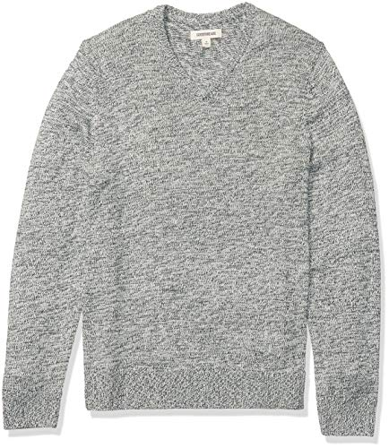 Amazon Brand - Goodthreads Men's Supersoft Marled V-Neck Sweater, Pine Green X-Large