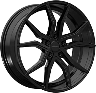 Rosso ICON 702 Black Wheel with Painted Finish (20 x 10. inches /5 x 112 mm, 40 mm Offset)
