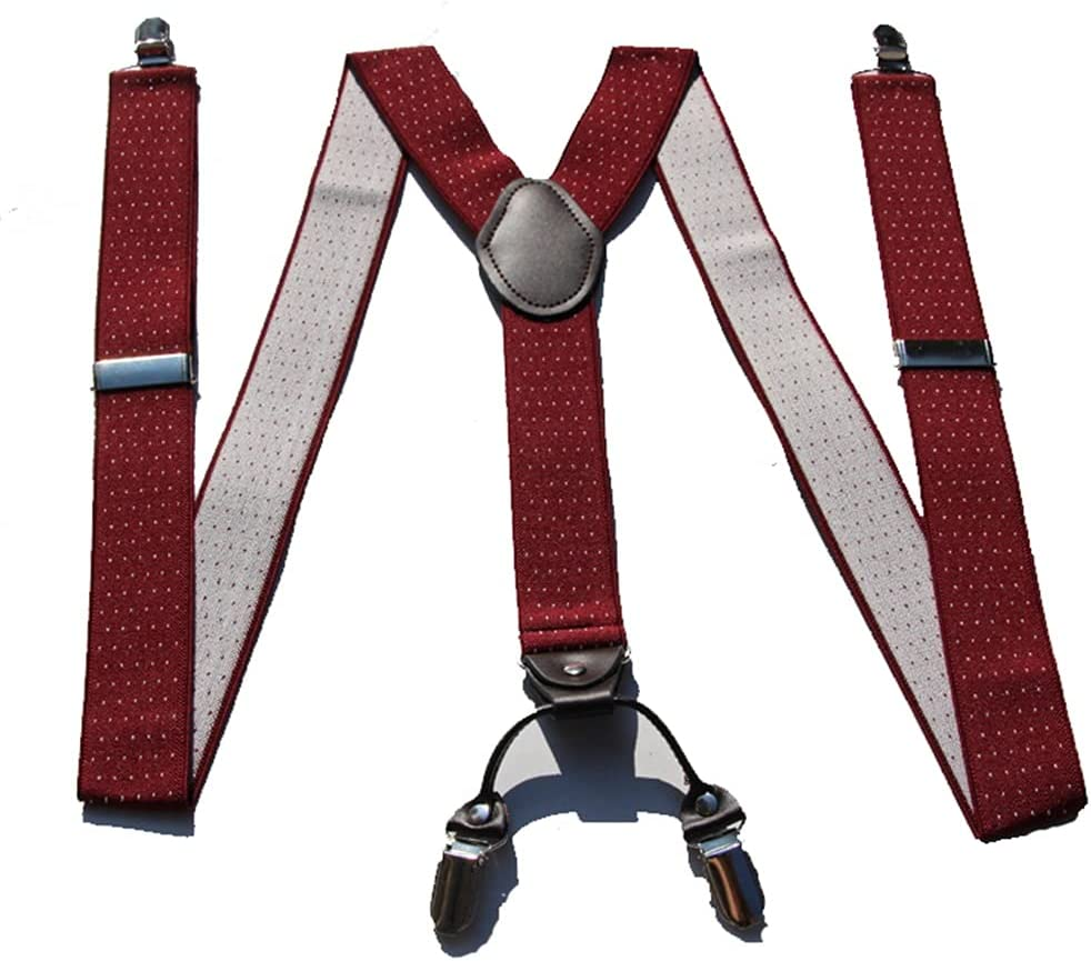 SKREOJF Braces for Men & Women Fully Adjustable Y Shape Adults Slim Suspenders Braces for Trousers (Color : C)