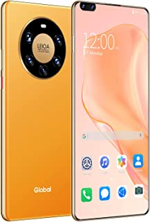Mobile Phone M40 Pro+ Smartphone, Android 10 Phone 6G+128G Unlocked 7.3 inches Perforated screen Dual SIM,Orange
