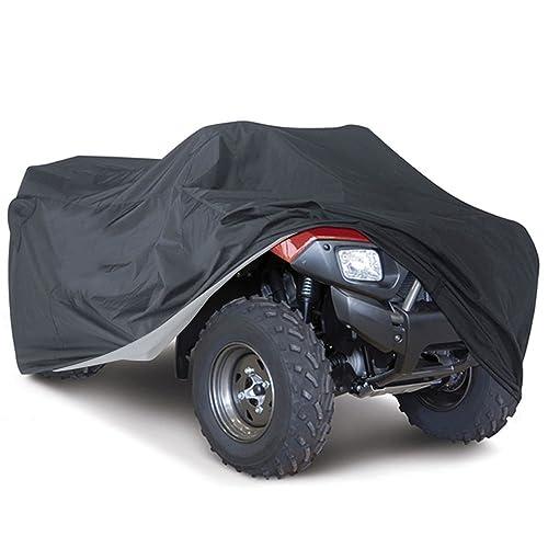 Housse de Protection Bâche pour ATV Quad Imperméable Étanche Anti-UV Sac de Rangement Inclus (Noir, XXL)