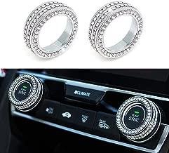 Senauto 2pcs Bling AC Heater Climate Control Knob Cover Compatible with Honda Civic 2016 2017 2018 2019