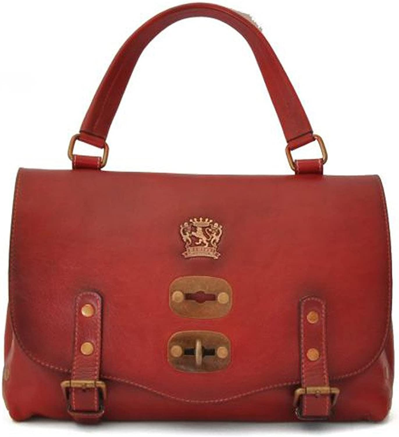 Pratesi Woman Bag Castell'Azzara Small in cow leather  Bruce Cherry