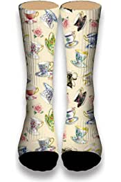 Basketball Soccer Baseball Socks by Potooy Flowers and the Key 3D Print Cushion Athletic Crew Socks for Men Women