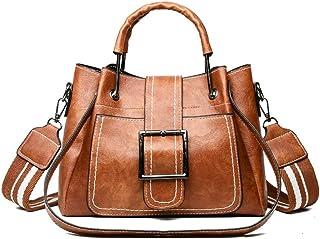 POPOTI Bolsos de Hombro,Bolsos Mano Mujeres Cuero Bolso de Mensajero Messenger Crossbody Bag Nuevos Bolsillos de Compras E...