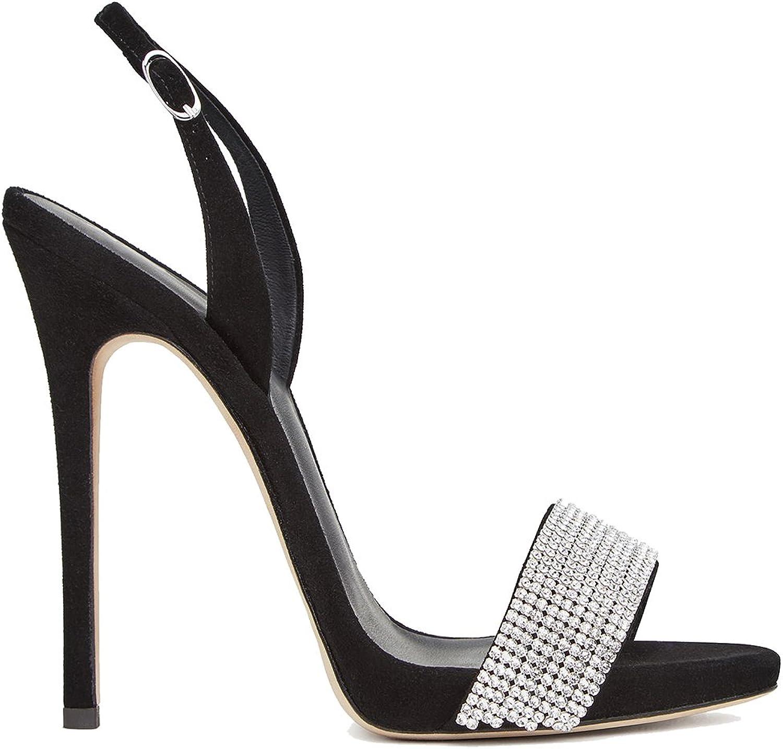 LYY.YY LYY.YY LYY.YY Damen High-Heels Strass Inlay Sandalen Lackleder Stiletto Schuhe Party Alltagskleidung (Absatzhöhe  12-13Cm)  939c55