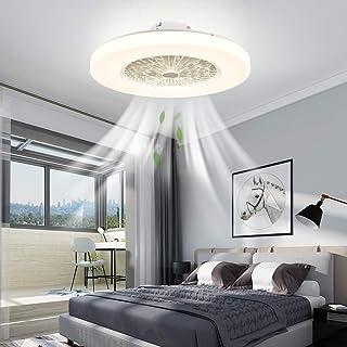IYUNXI Modern Ceiling Fan with Lights Flush Mount Remote...