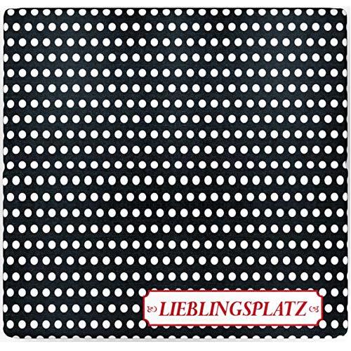 sitzZ style Sitzkissen Lieblingsplatz Schwarz, Made in Germany, faltbar für Ausflug, Bank, Camping, Outdoor, Wiese, Wandern, Strand, 33 x 29,5 x 3,3cm. Wasserabweisend, dick gepolstert, bequem, robust