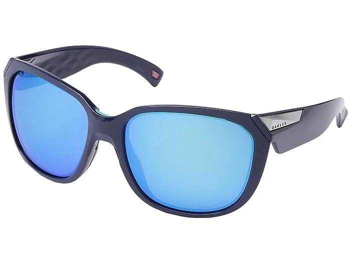 Oakley 59 mm Rev Up (Navy) Fashion Sunglasses