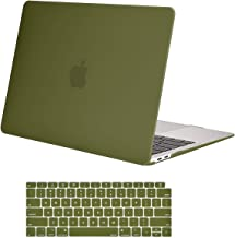 MOSISO MacBook Air 13 inch Case 2019 2018 Release A1932 with Retina Display, Plastic Hard Shell Case & Keyboard Cover Skin Only Compatible with MacBook Air 13 with Touch ID, Capulet Olive
