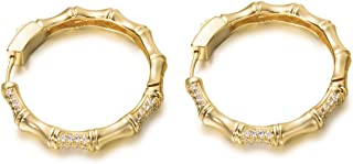 Circle Hoop Earrings for Women Sterling Silver Dangle Earrings Fashion Earrings for Teen Girls Gold and Rose Gold Plated