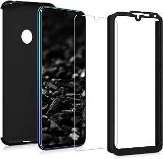 kwmobile fodral kompatibelt med Huawei Y7 (2019)/Y7 Prime (2019) – skyddande helkroppsfodral med skärmskydd – metalliskt r...