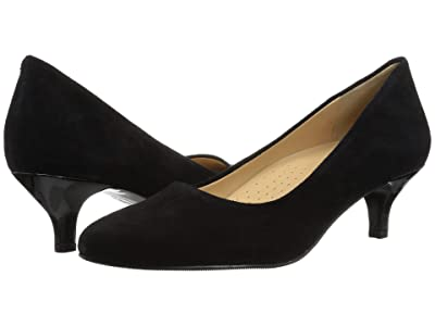 Trotters Kiera (Black Suede Leather) Women