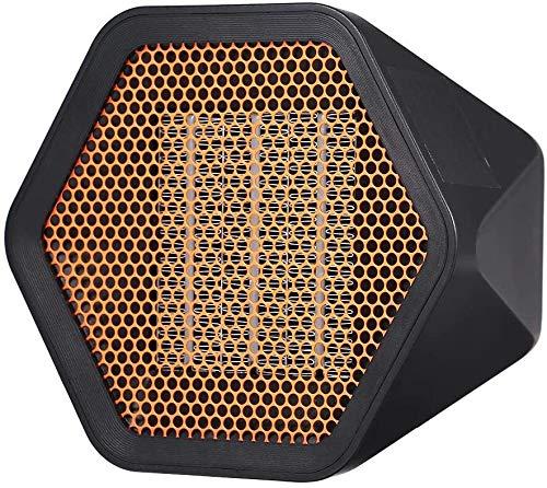 ZWR 1000 W - Calefactor eléctrico de bajo consumo - Calefactor de baño ajustable a 2 velocidades - Silencioso portátil 3s - Calefacción para casa/oficina (color: negro, tamaño: 1000 W)