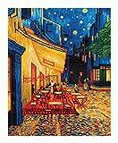 Pracht Creatives Hobby DD10-005 - Diamond Dotz Café bei Nacht von Van Gogh, funkelndes Diamantbild zum Selbstgestalten, ca. 42 x 52 cm groß, Malen mit Diamanten, neuer und kreativer Basteltrend