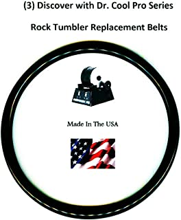 Replacement Drive Belts for Dr. Cool Pro Series Rock Tumbler- 3 pack