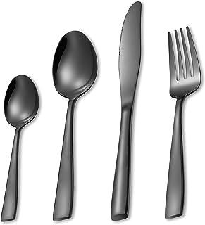 MEJAJU Ensemble d'argenterie, Ensemble d'ustensiles de Cuisine en Acier Inoxydable 24 pièces, Comprend Un Couteau, des fou...