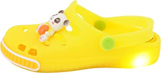 Yellow Bee Boys Panda LED Clogs, Yellow
