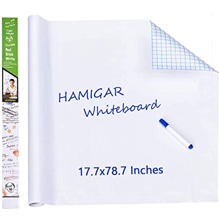 Dry Erase Board Sticker for Wall Whiteboard Sticker Peel and Stick Office Board Stick on Whiteboard Self Stick Removable Wallpaper Homeworking Office Home Fridge 17.5x78.7 Inches (45x200cm)