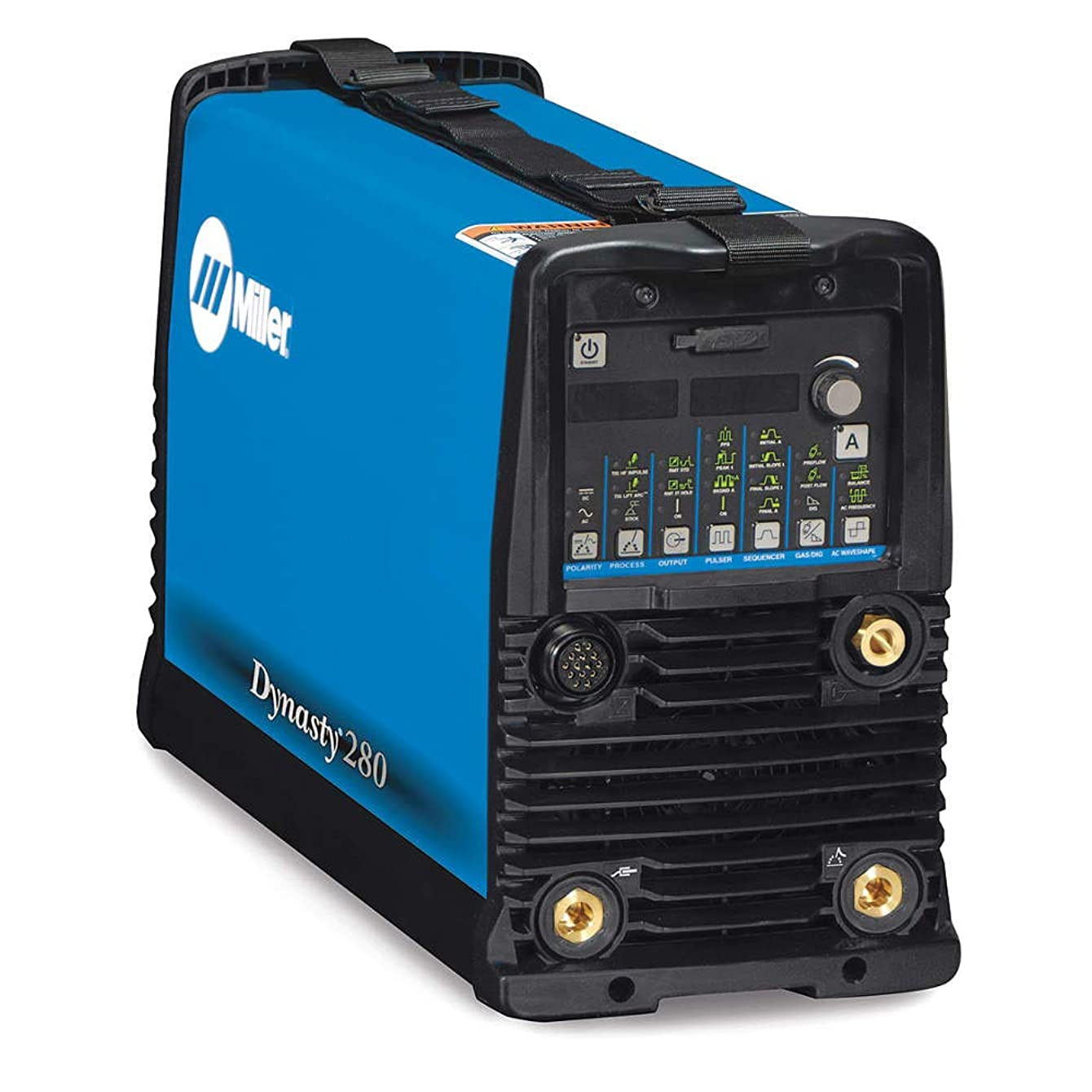 Miller Electric - 907514 - Miller Dynasty 280 DX Auto-Line TIG Welder, 208/230/400/460/575 Volt with Dynasty 280 DX Power Source with CPS, 8' Primary Power Cord, (2) Dinse 50 mm Connectors and