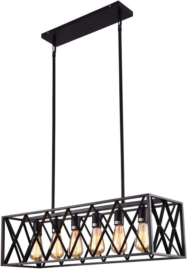 mirrea Vintage Pendant Light Max 89% OFF Fixture Omaha Mall Rectangle Lights in Frame 6