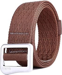Canvas Belt Simple Young Student Men and Women Decorative Belt Japanese Word Buckle Jeans Belt Long 120cm (Color : Coffee)